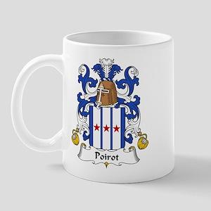 Poirot Family Crest Mug