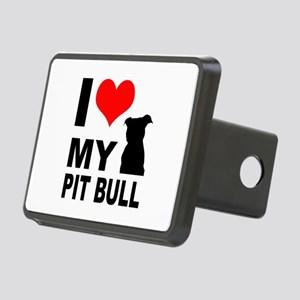 I Love My Pit Bull Rectangular Hitch Cover
