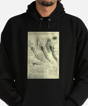 Male Anatomy by Leonardo da Vinci Hoodie (dark)