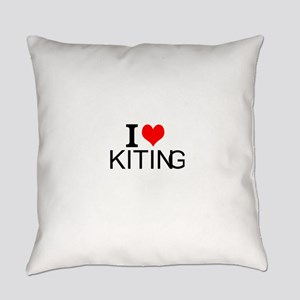 I Love Kiting Everyday Pillow