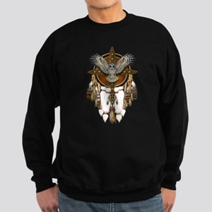 Great Grey Owl Mandala Sweatshirt (dark)