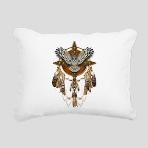 Great Grey Owl Mandala Rectangular Canvas Pillow