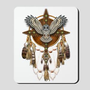 Great Grey Owl Mandala Mousepad