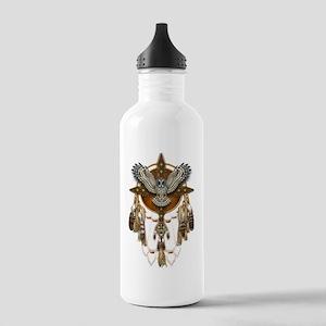 Great Grey Owl Mandala Stainless Water Bottle 1.0L