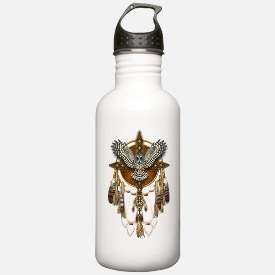 Great Grey Owl Mandala Water Bottle