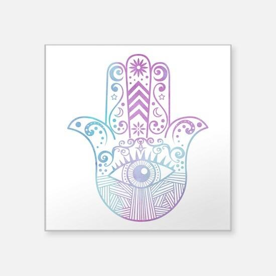 Hamsa Hand Purple and Blue Sticker