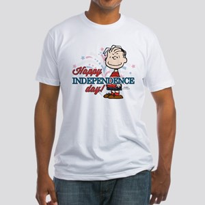 Linus - Happy Independence Day Fitted T-Shirt