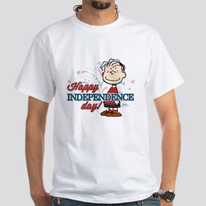 Linus - Happy Independence Day White T-Shirt