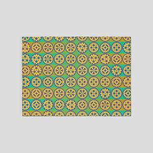 Gearwheels pattern 5'x7'Area Rug