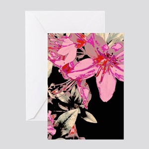 Contrasted Lilies Greeting Cards