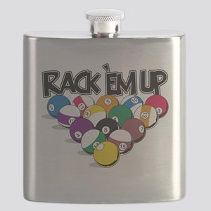 Rack Em Up Pool Flask