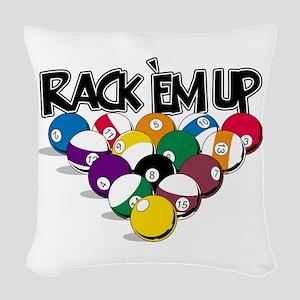 Rack Em Up Pool Woven Throw Pillow