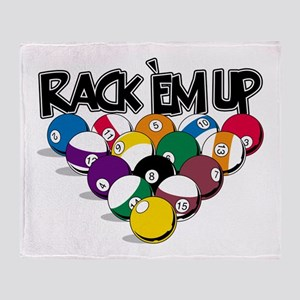 Rack Em Up Pool Throw Blanket