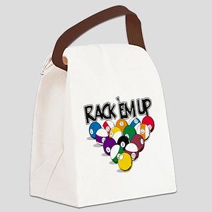 Rack Em Up Pool Canvas Lunch Bag