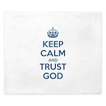 Keep Calm and Trust God King Duvet