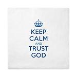Keep Calm and Trust God Queen Duvet