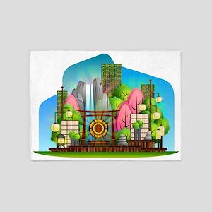 Zen Garden 5'x7'Area Rug