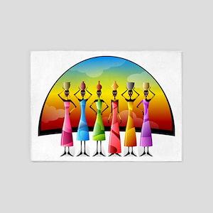 African Women 5'x7'Area Rug
