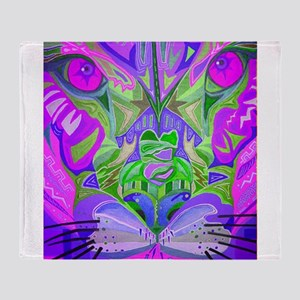 abstract cougar-pink Throw Blanket