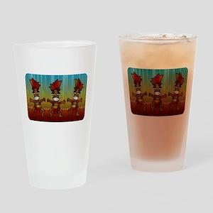 Tiki Men Drinking Glass