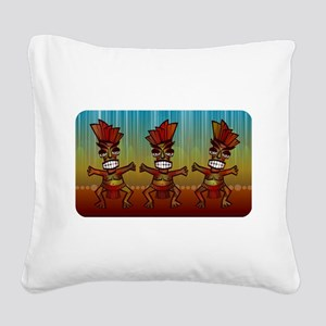 Tiki Men Square Canvas Pillow
