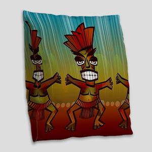 Tiki Men Burlap Throw Pillow