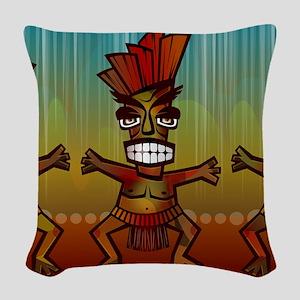 Tiki Men Woven Throw Pillow