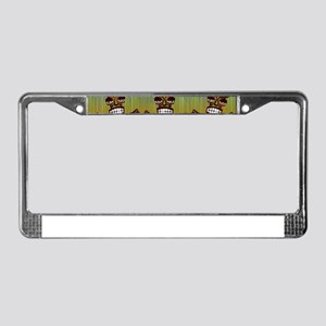 Tiki Men License Plate Frame