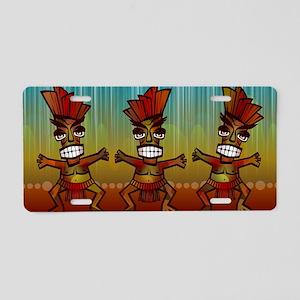 Tiki Men Aluminum License Plate