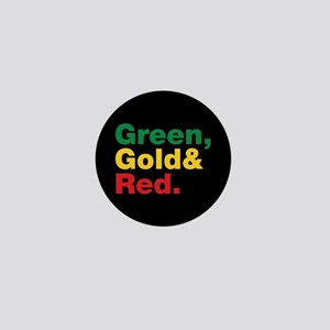 Green, Gold and Red. Mini Button