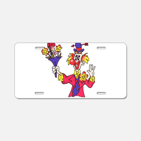 Clown Aluminum License Plate