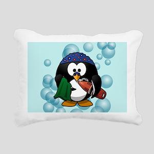 Swimmer Penguin Swimming Rectangular Canvas Pillow