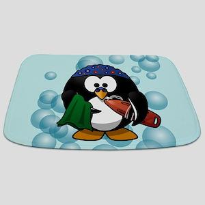 Swimmer Penguin Swimming Bathmat