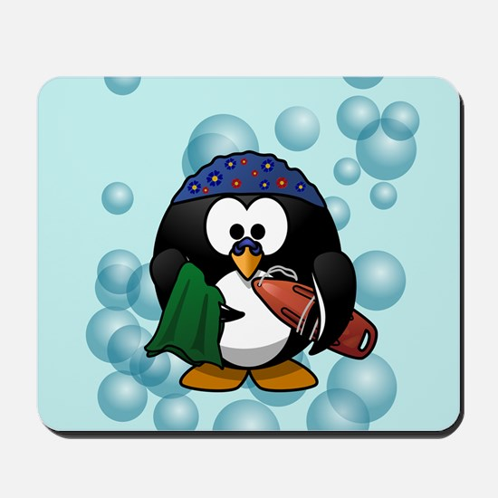 Swimmer Penguin Swimming Mousepad