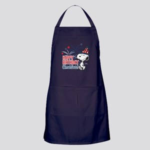 Snoopy - Happy B-Day America Apron (dark)