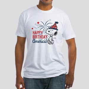 Snoopy - Happy B-Day America Fitted T-Shirt