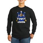 Pierrepont Family Crest Long Sleeve Dark T-Shirt