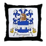 Pierrepont Family Crest Throw Pillow
