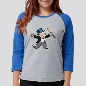 Monopoly Dancing Rich Uncle Pe Womens Baseball Tee