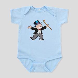 Monopoly Dancing Rich Uncle Pe Baby Light Bodysuit