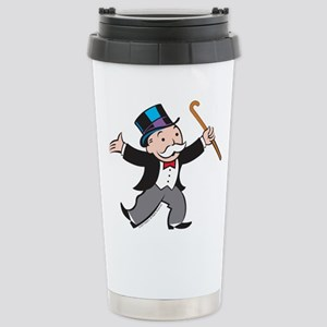 Monopoly Dancing 16 oz Stainless Steel Travel Mug