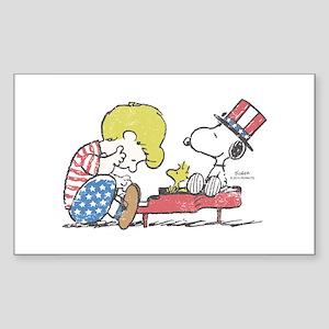 Snoopy - Vintage Schroeder Sticker (Rectangle)