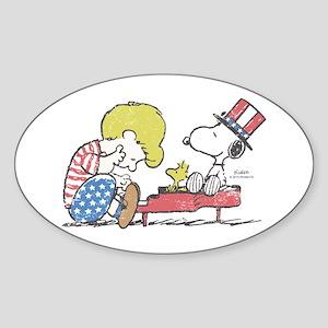Snoopy - Vintage Schroeder Sticker (Oval)