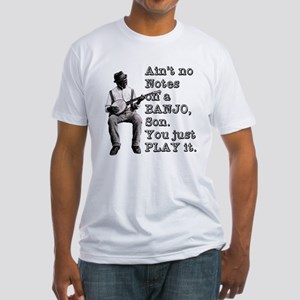 """Bold """"Ain't No Notes on a Banjo"""" Fitted T-Shirt"""