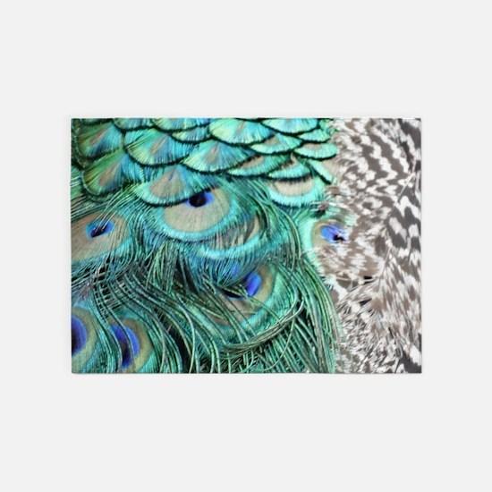 Pea Feathers 5 X7 Area Rug