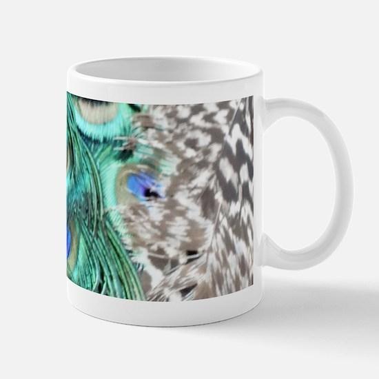 Peacock Feathers Mugs