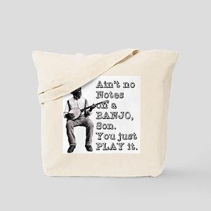 "Bold ""Ain't No Notes on a Banjo"" Tote Bag"