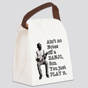 "Bold ""Ain't No Notes on a Banjo"" Canvas Lunch Bag"