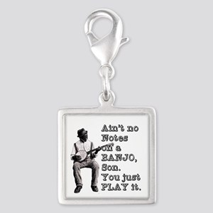 "Bold ""Ain't No Notes on a Ban Silver Square Charm"