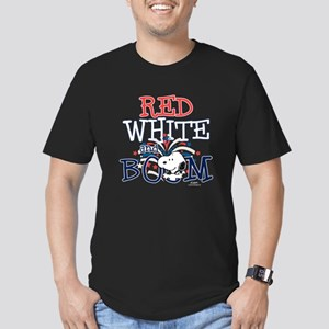 Snoopy - Red White & B Men's Fitted T-Shirt (dark)